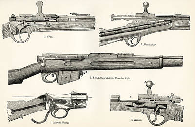 Martini Drawing - Small Arms. Firearms. 19th Century by Vintage Design Pics