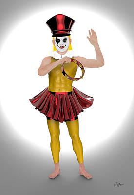 Clown Mixed Media - Small Automaton Clown by Quim Abella
