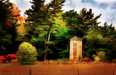 Digital Art - Small Autumn Silo by JGracey Stinson