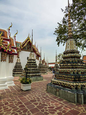 Photograph - Small Beautiful Stupas At Wat Pho Temple by Helissa Grundemann