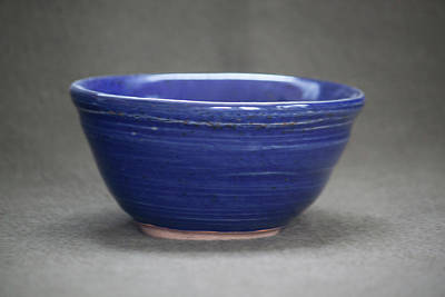 Small Blue Ceramic Bowl Art Print by Suzanne Gaff