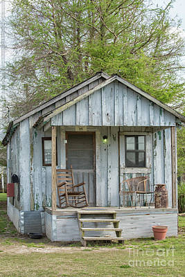 Photograph - Small Blue Shack In Clarksdale, Mississippi by Patricia Hofmeester