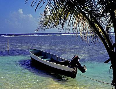 Photograph - Small Boat Belize by Gary Wonning