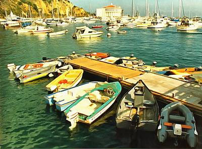 Photograph - Small Boat Dock Catalina Island California by Floyd Snyder