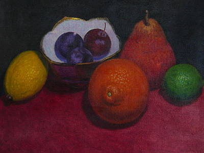Painting - Small Bowl With Fruit by Terry Perham