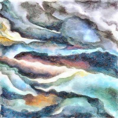 Painting - Small Brooks Make Big Rivers by Tracey Harrington-Simpson