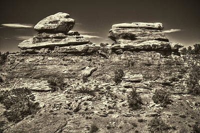 Photograph - Small Buttes Canyonlands National Park by Roger Passman
