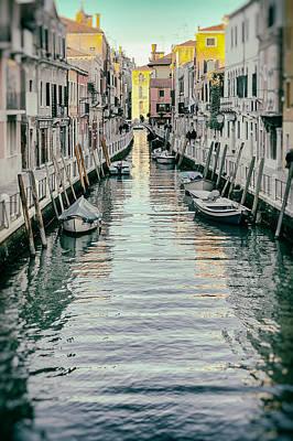 Small Canal In Dorsoduro Venice Art Print by Paul Bucknall