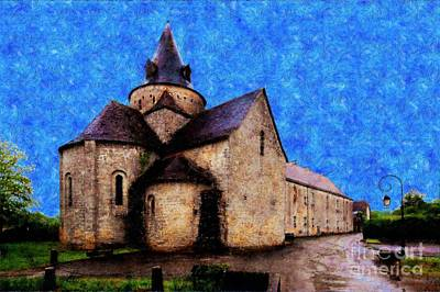 Small Church 1 Print by Jean Bernard Roussilhe