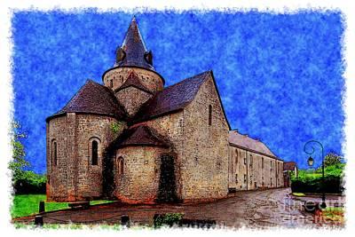 Small Church 2 Art Print by Jean Bernard Roussilhe