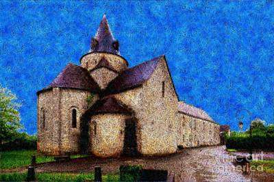 Small Church 4 Art Print by Jean Bernard Roussilhe
