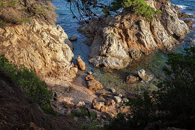 Small Cosy Hidden Beach At Mediterranean Sea  Art Print