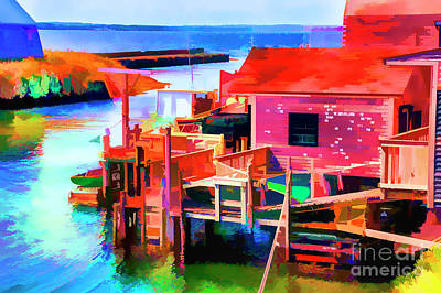 Digital Art - Small Cove by Rick Bragan