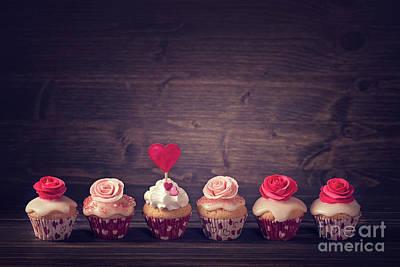 Cupcake Love Digital Art - Small Cupcakes by Elena Schweitzer