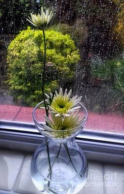 Photograph - Small Dahlias In My Window by Joan-Violet Stretch