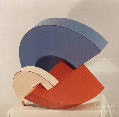 Sculpture - Small Disc Form by Robert F Battles