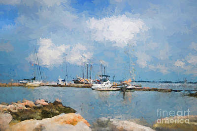 Small Dock With Boats Art Print
