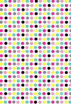 Repeat Digital Art - Small Dots by Louisa Knight