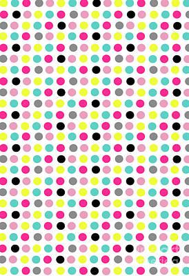 Small Digital Art - Small Dots by Louisa Knight