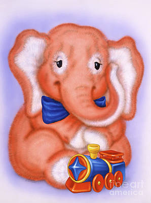 Airbrushed Art Mixed Media - Small Elephant 1 by Michael Seleznev