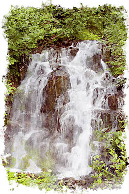 Digital Art - Small Falls On Mt. Ranier by Peter J Sucy
