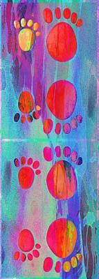 Small Feet And Big Feet 11 Art Print by Jean Francois Gil