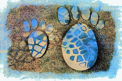 Small Feet And Big Feet 13 Art Print by Jean Francois Gil