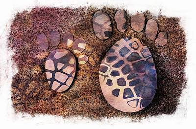 Small Feet And Big Feet 26 Art Print by Jean Francois Gil