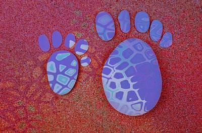 Small Feet And Big Feet 27 Art Print by Jean Francois Gil