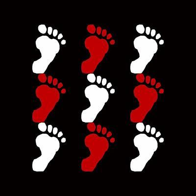 Footprint Digital Art - Small Feet by Tommytechno Sweden