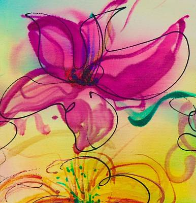 Painting - Small Flower 3 by Barbara Pease