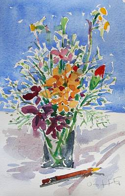 Painting - Small Flowers by Owen Hunt
