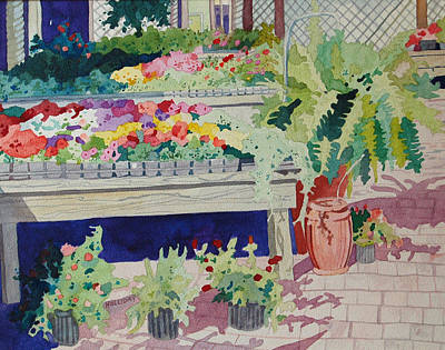Painting - Small Garden Scene by Terry Holliday