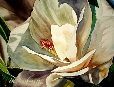 Gardenia Painting - Small Gardenia by Lelia DeMello