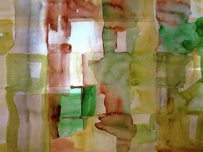 Small Grid In Earth Tones Art Print by Joan Norris