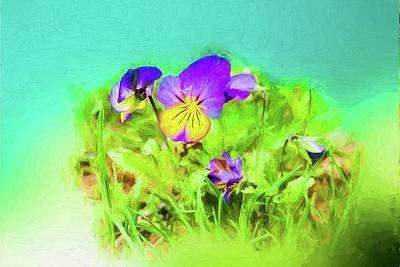 Digital Art - Small Group Of Violets by Rusty R Smith