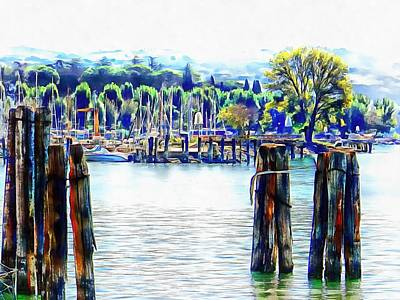 Photograph - Small Harbour At Passignano Sul Trasimeno by Dorothy Berry-Lound