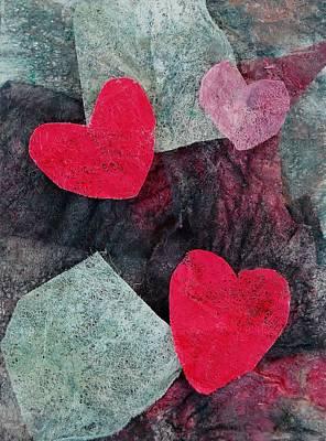 Mixed Media - Small Hearts by Charla Van Vlack
