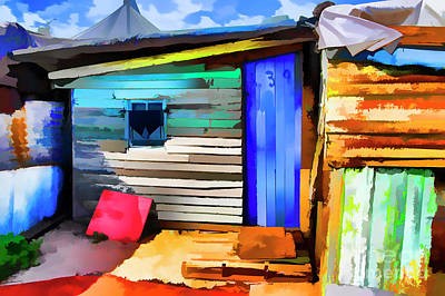 Digital Art - Small House by Rick Bragan