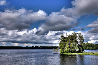 Photograph - Small Island On Raquette Lake by David Patterson