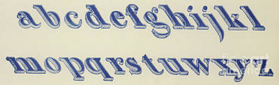 Schoolrooms Drawing - Small Italian Font by English School