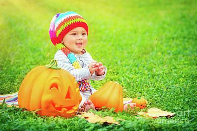 Photograph - Small Kid Celebrates Halloween by Anna Om