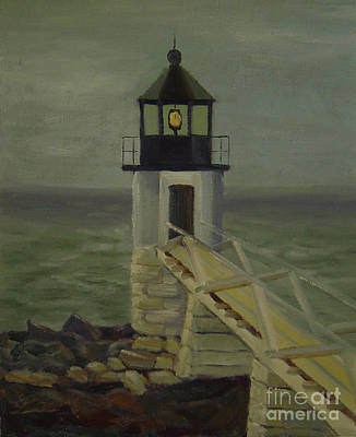 Painting - Small Lighthouse by Lilibeth Andre