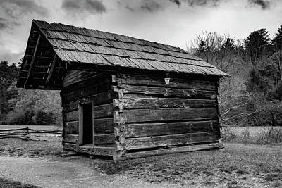 Photograph - Small Log Building by Steven Ainsworth