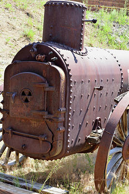 Photograph - Small Mining Engine At Rusty Rest  by Kae Cheatham