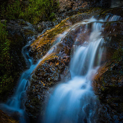 Photograph - Small Mountain Stream Falls by Chris McKenna