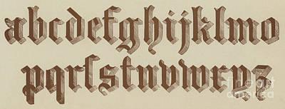 Small Old English Riband  Art Print by English School