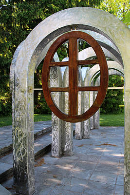 Photograph - Small Park With Arches by Michiale Schneider