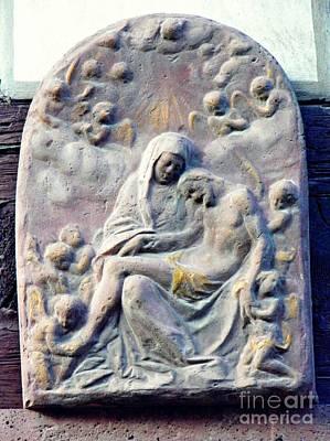 Small Pieta In Eltville    Art Print