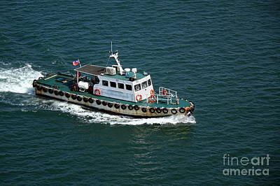 Photograph - Small Pilot Boat Returns To The Harbor by Yali Shi